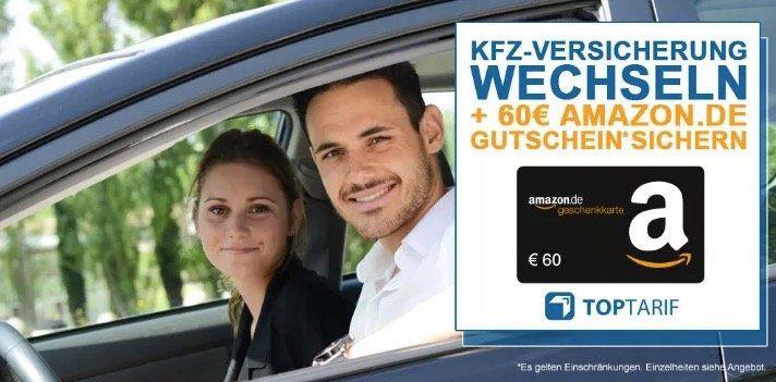 Kfz Versicherung wechseln + 60€ Amazon.de Gutschein*   Bonus Deal!