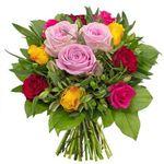 """Rosenstrauß """"Ich denk an Dich"""" mit 12 Rosen und 5 Inkalilien für 19,94€"""