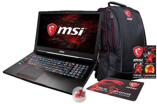 MSI GE63VR Gaming Notebook mit 120Hz Display und GTX 1060 + Gaming Bundle für 1.333€ (statt 1.549€)