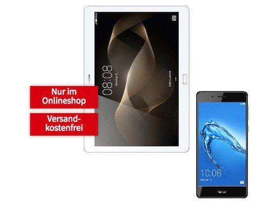 Huawei Honor 6C Smartphone + Huawei Mediapad M2 Tablet für 49€ + o2 Flat mit 5,5GB LTE inkl. 2. Simkarte für 19,99€ mtl.