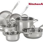KitchenAid KC2CS10ST Topf-Set 10-teilig für 308,90€ (statt 399€)