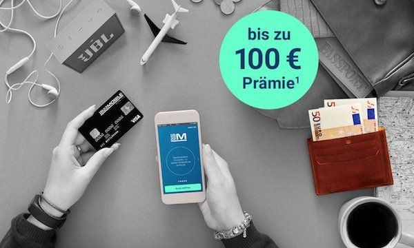 TOP! 1822Mobile   mobiles Girokonto + bis zu 150€ Startguthaben + kostenfreie Visa Kreditkarte