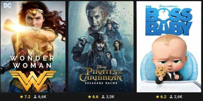 5 von 70 Filme für je 0,50€ bei Rakuten TV   z.B. Wonder Woman oder Interstellar