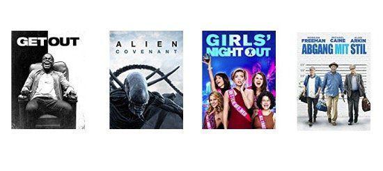 Ausgewählte Filme in HD für 0,99€ bei Amazon ausleihen   z.B. Alien: Covenant