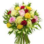 """Rosenstrauß """"Only for you"""" mit 20 Rosen und 21 Inkalilien für 24,98€"""