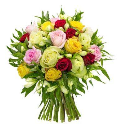 Rosenstrauß Only for you mit 20 Rosen und 21 Inkalilien für 24,98€