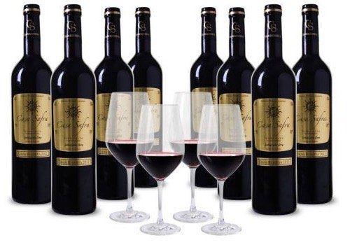 8 Flaschen Casa Safra Rotwein + 4 Schott Zwiesel Weingläser für 49,99€   goldprämiert!