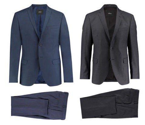 s.Oliver Cosimo Slim Fit oder Triest Regular Fit Herren Anzug für je 129,90€ (statt 180€)