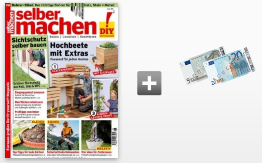 """Jahresabo """"Selbermachen"""" für 45,60€ + 25€ Verrechnungsscheck oder Amazon Gutschein"""