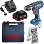 Begrenzte Stückzahl! Bosch GSB 18-2-LI Plus Akku-Schlagbohrschrauber mit 4Ah + 24-tlg. Bit-Box für 116,91€ (statt 149€)