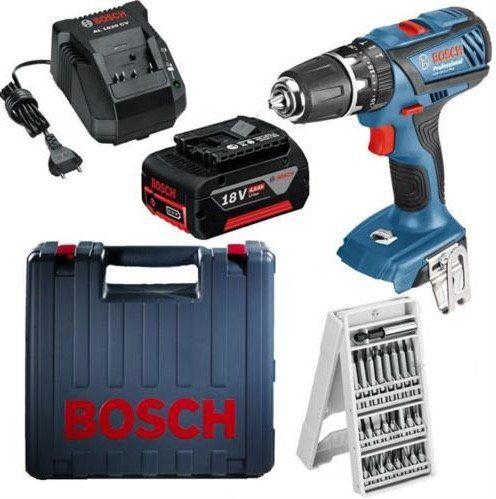 Begrenzte Stückzahl! Bosch GSB 18 2 LI Plus Akku Schlagbohrschrauber mit 4Ah + 24 tlg. Bit Box für 116,91€ (statt 149€)