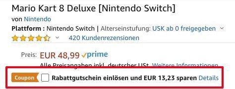Vorbei! Nintendo Switch Mario Kart 8 Deluxe für ab 35,76€ (statt 45€)