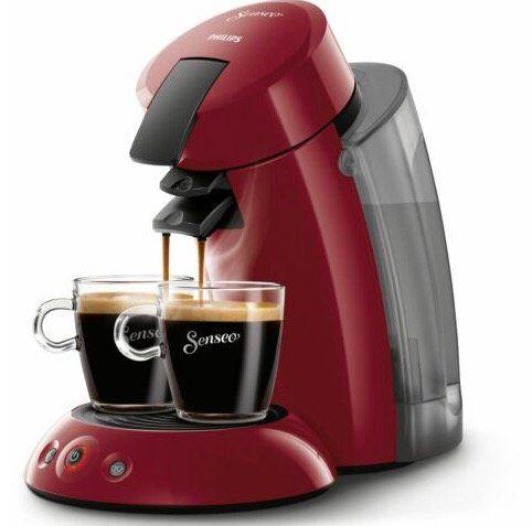 Ausverkauft! Philips Original Senseo HD7818 Kaffeepadmaschine in Rot für 49,99€ (statt 68€)