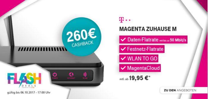 Telekom Magenta DSL und Festnetz Flatrate + weltweit Hotspot dank Cashback ab 18,29€ mtl.