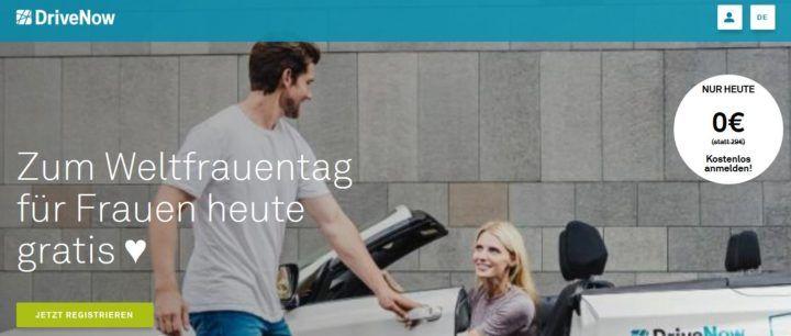 Drive Now   Anmeldung für Neukundinnen heute gratis statt 29€