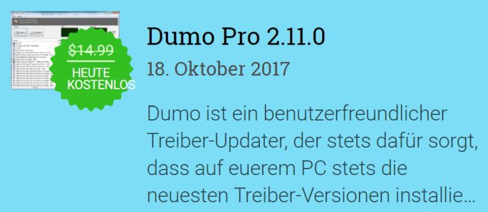 Kostenlos: Dumo Pro 2 – nur bis morgen 10 Uhr