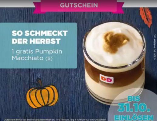 Gratis Pumpkin Macchiato bei Dunkin Donuts (App erforderlich)