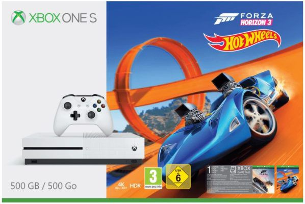 TOP! Xbox One S 500GB  + Forza Horizon 3 Hot Wheels + FIFA 18 + 2. wireless Controller ab 249€