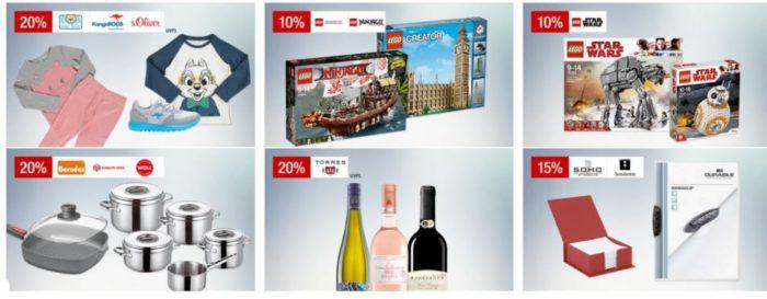 Galeria Kaufhof Sonntagsangebote   z.B. 20% auf Berndes, SCHULTE UFER & Woll   10% auf LEGO Star Wars, Creator & Ninjago