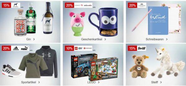 Galeria Kaufhof Sonntagsangebote   z.B. 20% auf Adidas, Under Armour und Puma 15% auf GIN und vieles mehr