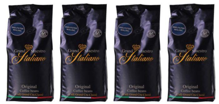 Grand Maestro Italiano   Promopack mit 4kg gemahlenen Kaffee für 39,99€