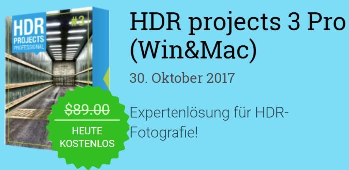 HDR Projects 3 Pro (PC & MAC) gratis
