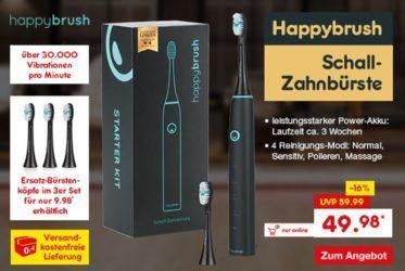 Happy Brush Schall Zahnbürste für 49,98€ und Keddiiscoop Katzenkloreiniger aus der Höhle der Löwen für 7,99€