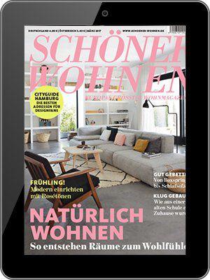 Schöner wohnen Jahresabo als E Paper für 44,08€ + 45€ Gutschein