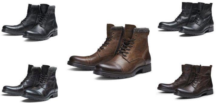 Jack & Jones verschiedene Herren Lederstiefel für je 69,99€