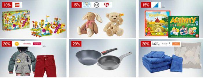 Galeria Kaufhof Feiertags Angebote: 15% Rabatt auf Gesellschaftsspiele, Damenfashin   20% auf Sportartikel, Pfannen uvam.
