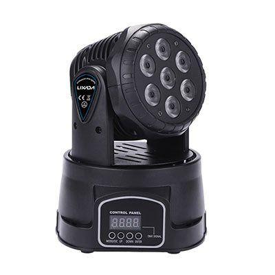 Lixada 105W 7 LED DMX 512 Mini Moving Head mit 9/14 Kanal für 43,94€ (statt 47€)