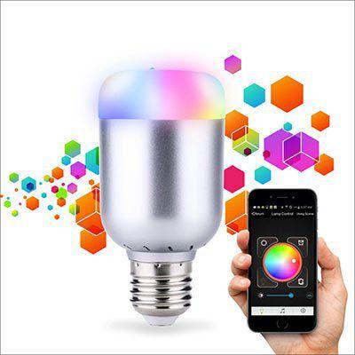 Lixada 6W LED Glühbirne 550LM E27 mit App Steuerung für 8,16€