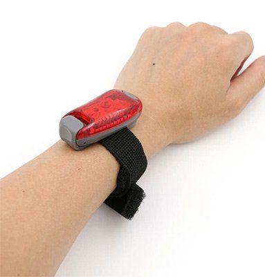 Mini LED Licht mit Klettband in Rot mit 5 LEDs und verschiedenen Modi für 3,09€