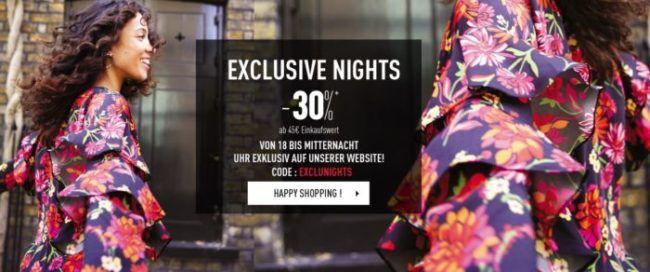 Pimkie Late Night Sale bis Mitternacht mit 30% extra Rabatt auf reguläre Ware oder 50% im Sale