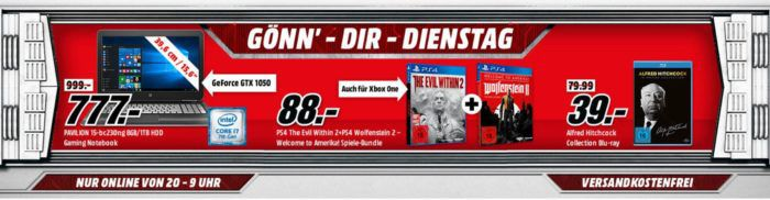 The Evil Within 2 + Wolfenstein II: Welcome to Amerika für 88€ im Media Markt Dienstag Sale