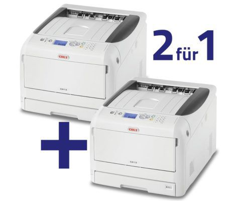 2 x OKI C813n Farblaserdrucker A3 mit 3 Jahren Garantie statt 1.180€ für 699€