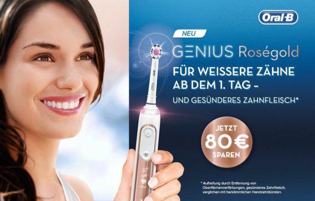 Bis zu 80€ Cashback auf Oral B Genius 9000 bis 31.10.2017