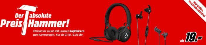 Media Markt Kopfhörer Preishammer   z.B. BEATS EP statt 66€ für 49€
