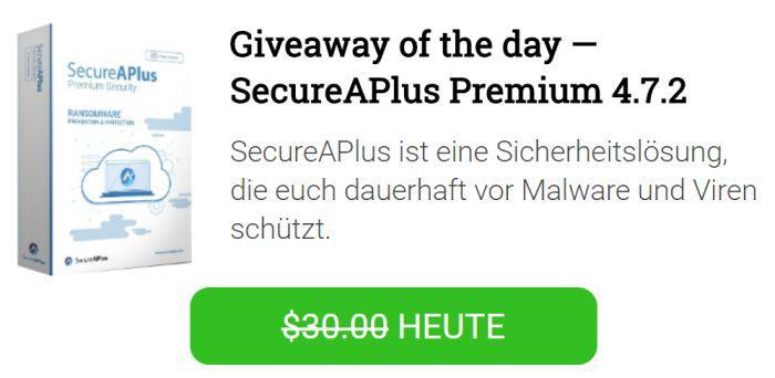 SecureAPlus Premium (2 Jahres Lizenz) kostenlos