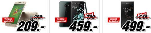 Media Markt Smartphone Fieber: z.B. BLACKBERRY Passport 32 GB statt 186€ für 149, €