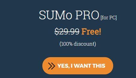 Nur für kurze Zeit: Sumo Pro (4 PC Lifetime Lizenz) kostenlos