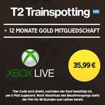 "12 Monate Xbox Live Gold +""T2 Trainspotting""  HD Stream für 35,99€"