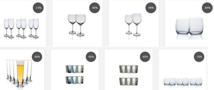 Top12 Gläser Sale: z.B. 6er Set Jamie Oliver Gläser farbig o. klar für nur 12,12€