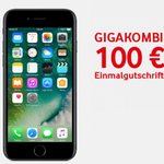Apple iPhone 7 o. iPhone 8 + Vodafone RED M GIGAKOMBI mit 14GB LTE Allnet + SMS Flat ab 29,87€ mtl.