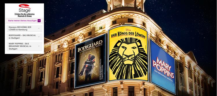 Stage Musical Tickets bei Vente Privee ab 51,90€   Der König der Löwen, Bodyguard & Mary Poppins