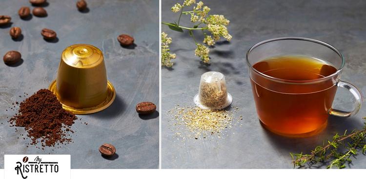 my Ristretto   Tee  und Kaffeekapseln oder Pads bei vente privee   z.B. 96 Mygrey Kapseln ab 19,90€ (statt 23€)