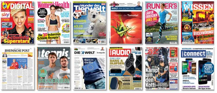 iKiosk   Testangebot mit 3 von 24 Magazinen gratis ausprobieren