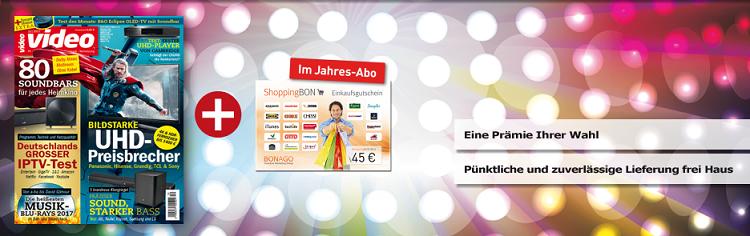 video magazin für 66€ Jahresabo + 45€ Shopping Bon oder Powerbank
