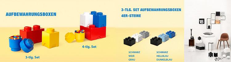 LEGO OneDay Sale bei vente privee   z.B. 3er Set Aufbewahrungsboxen (8er Steine) ab 55,90€ (satt 81€)