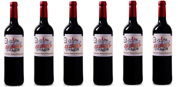 12 Flaschen Casa del Valle   El Tidón Tempranillo Cabernet Sauvignon für 39,99€   goldprämierter Rotwein
